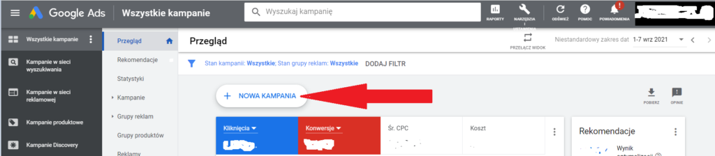kampania w sieci wyszukiwania